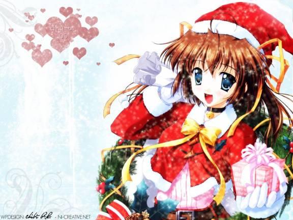 Immagini Anime Natalizie.Ragazze Manga Natalizie Perla D Oriente Grafica
